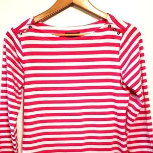 Chelsea and Theodore Womens S Boat Neck Knit Top ... d81c482ad